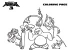 Kung Fu Panda Coloring Pages to Print