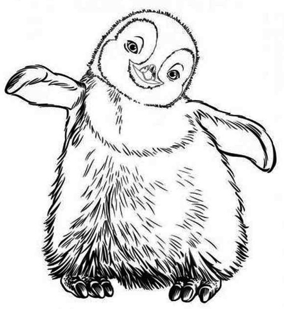 Little-Erik-from-Happy-Feet-Coloring-Pages-Printable