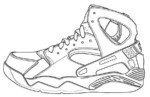 Air Jordan Shoes Coloring Pages to Learn Drawing Outlines