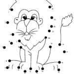 Connect The Dots Of Lion Coloring Sheet Printable