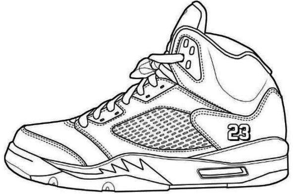 Jordans Shoes Coloring Pages Printable 2
