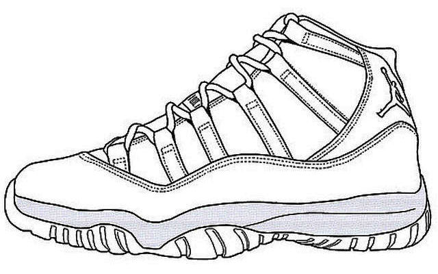 Outline Air Jordan Coloring Page To Print