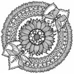 sunflower-mandala-coloring-book