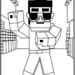 Wolf Minecraft Skins Coloring Page 530x755