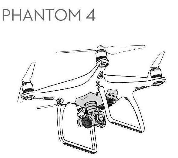 DJI Phantom 4 Drone Coloring Page To Print