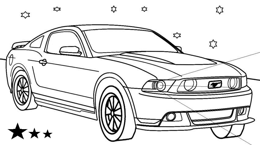 Ford Mustang Coloring Sheet And Drawing