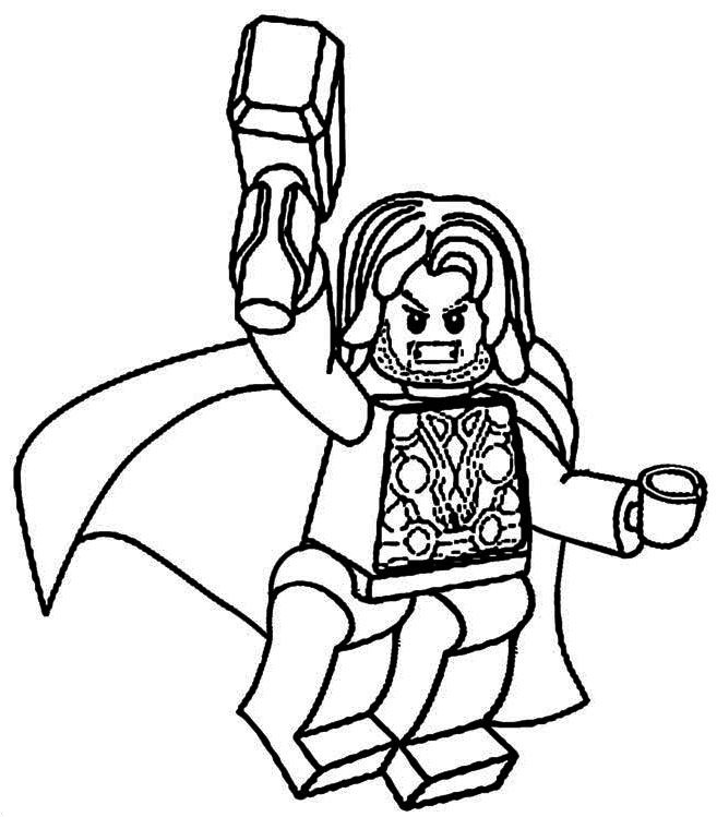 Lego Thor Coloring Pages To Print