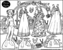 Paper Doll Coloring Pages to Develop Scissor Skills for Kids