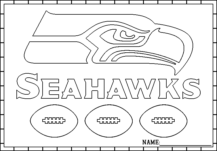 Seattle Seahawks Logo Coloring Pages