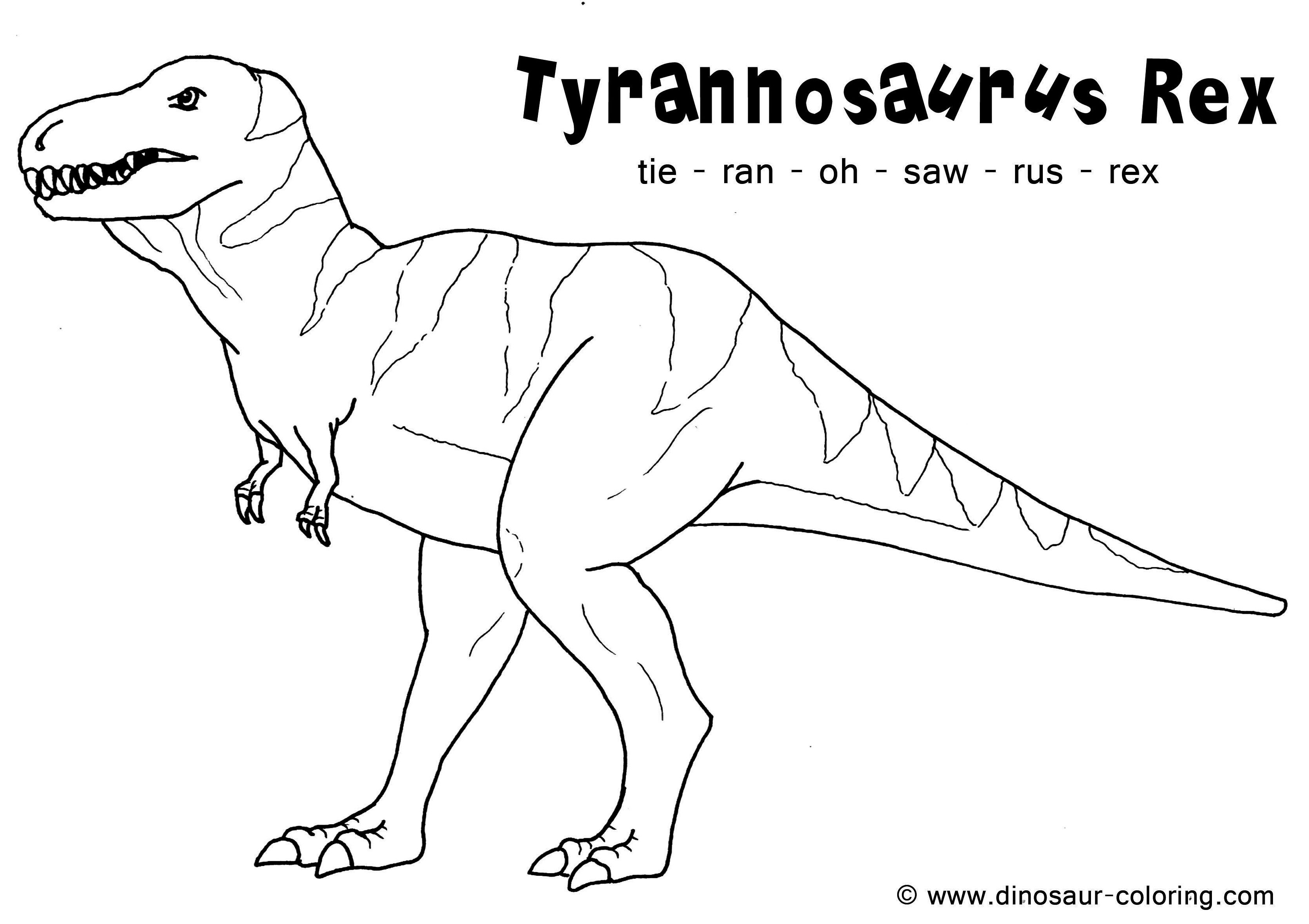 Tryannosaurus Rex T Rex Coloring Page For Adults