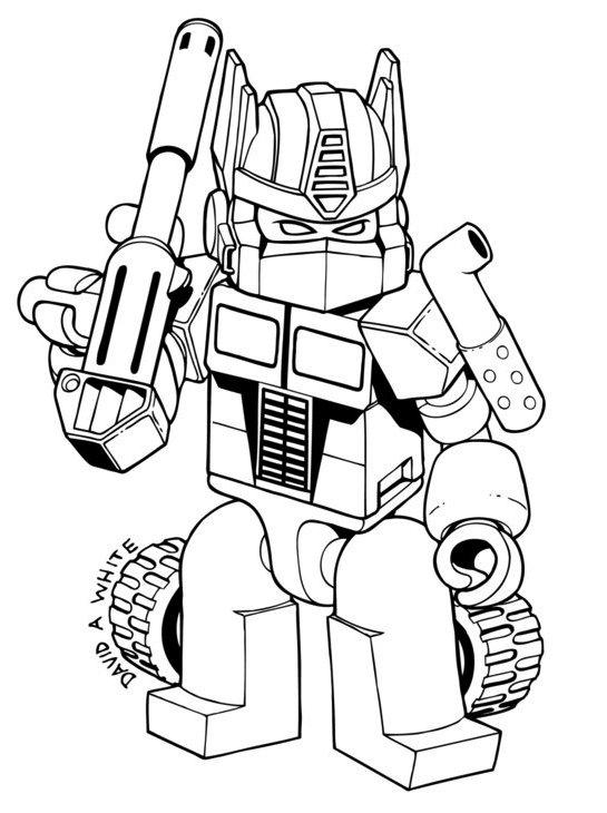 Angry Bird Transformers Bumblebee Coloring Pages