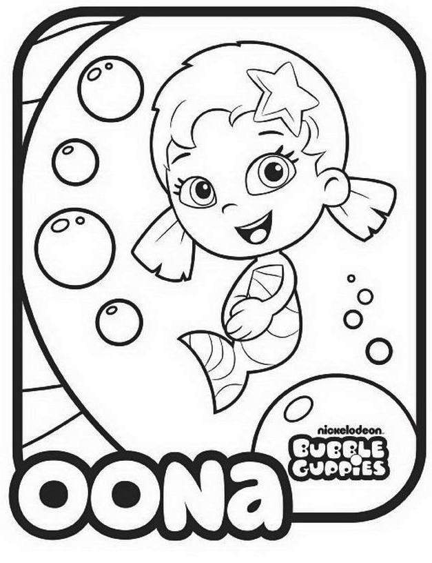 Bubble Guppies Nickelodeon Coloring Books Oona