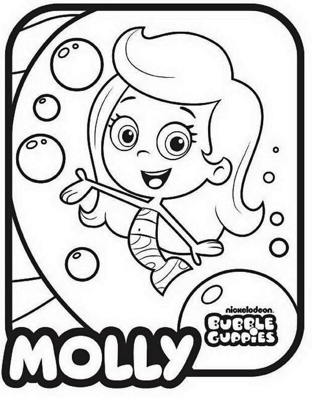 Bubble Guppies Nickelodeon Coloring Pages Molly