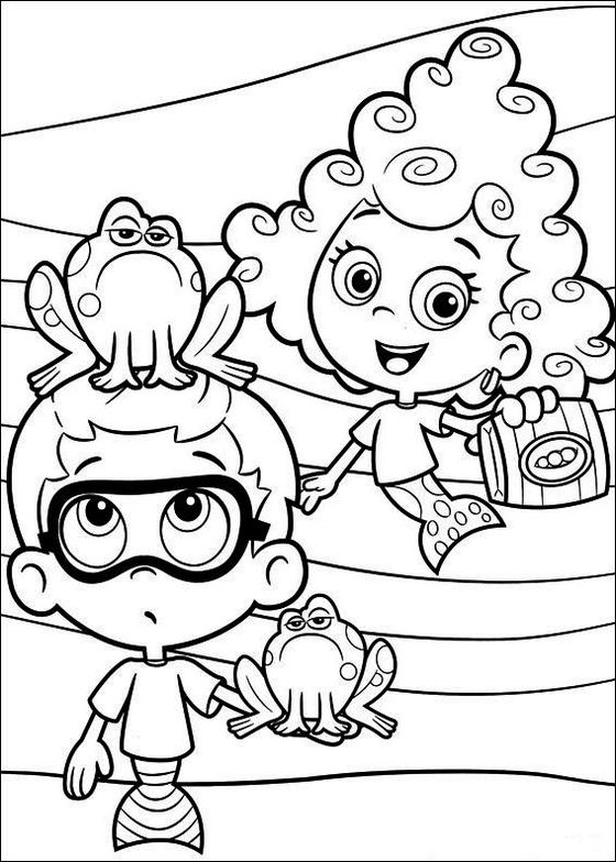 Bubble Guppies Nickelodeon Coloring Sheets