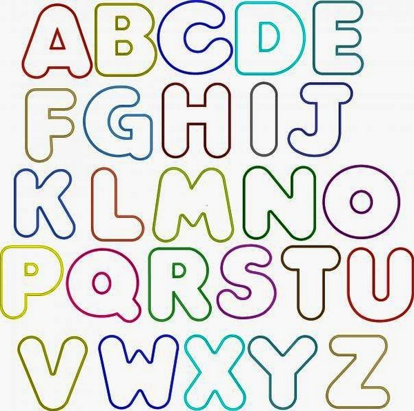 Bubble Letter Coloring Pages Font Letter Alphabet