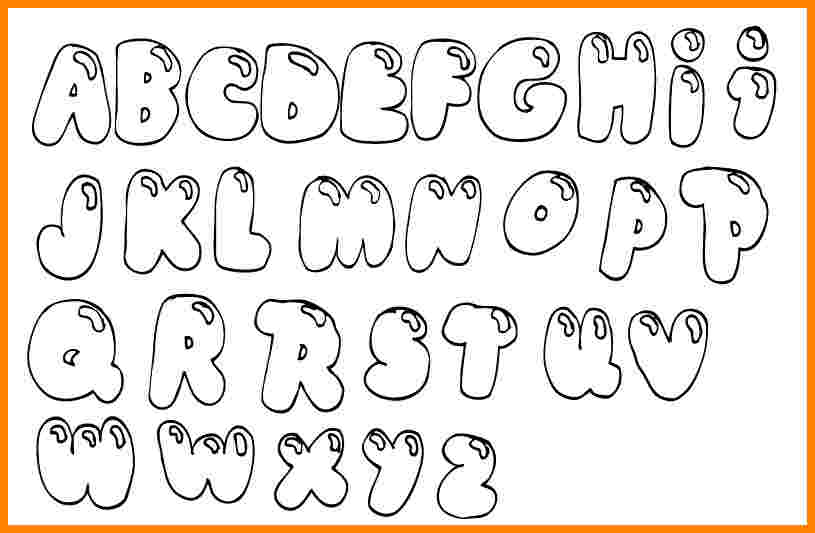 Bubble Letters Coloring Pictures