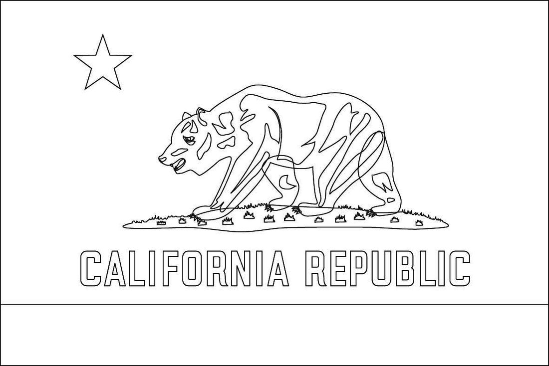 California Flag Coloring Pages Printable