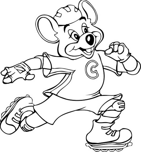 Chuck E Cheese Coloring Page Printable