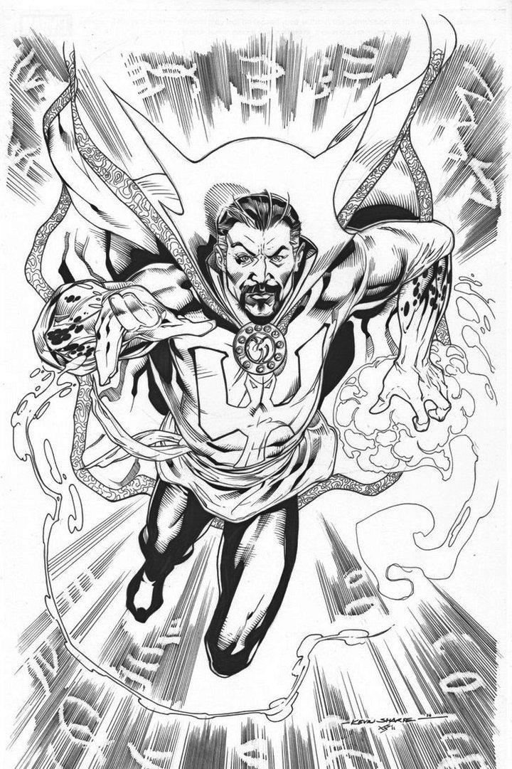 Dr Strange Marvel Coloring Page Printable