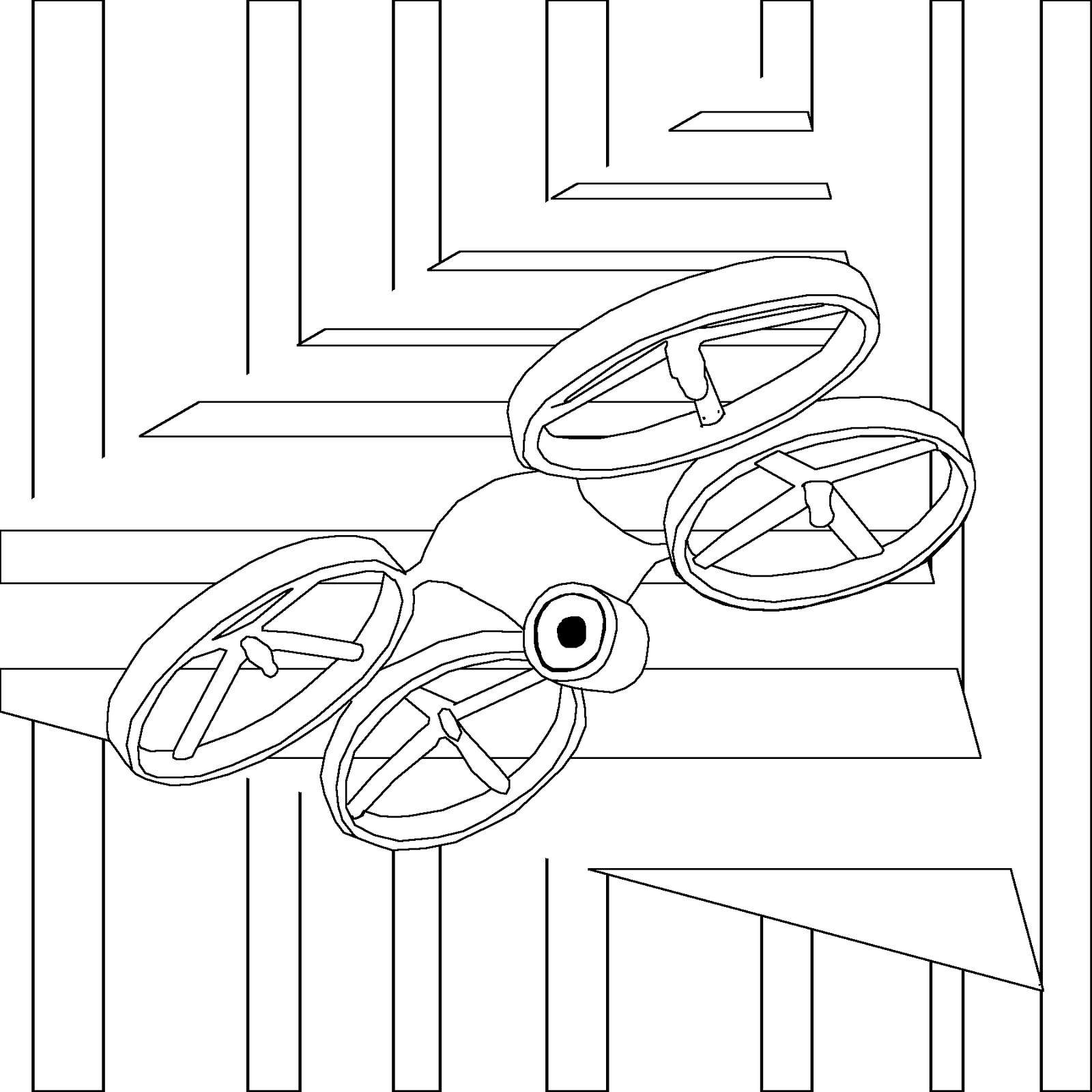Drone Coloring Sheet Printable