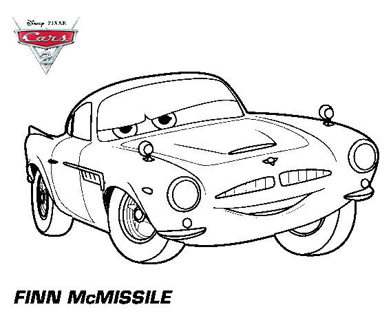 Finn Mcmissile Coloring Page Printable