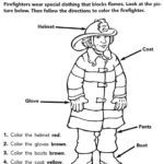 Firefighter Dress Coloring Page