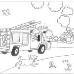 Fireman Car Coloring Pages Do Task