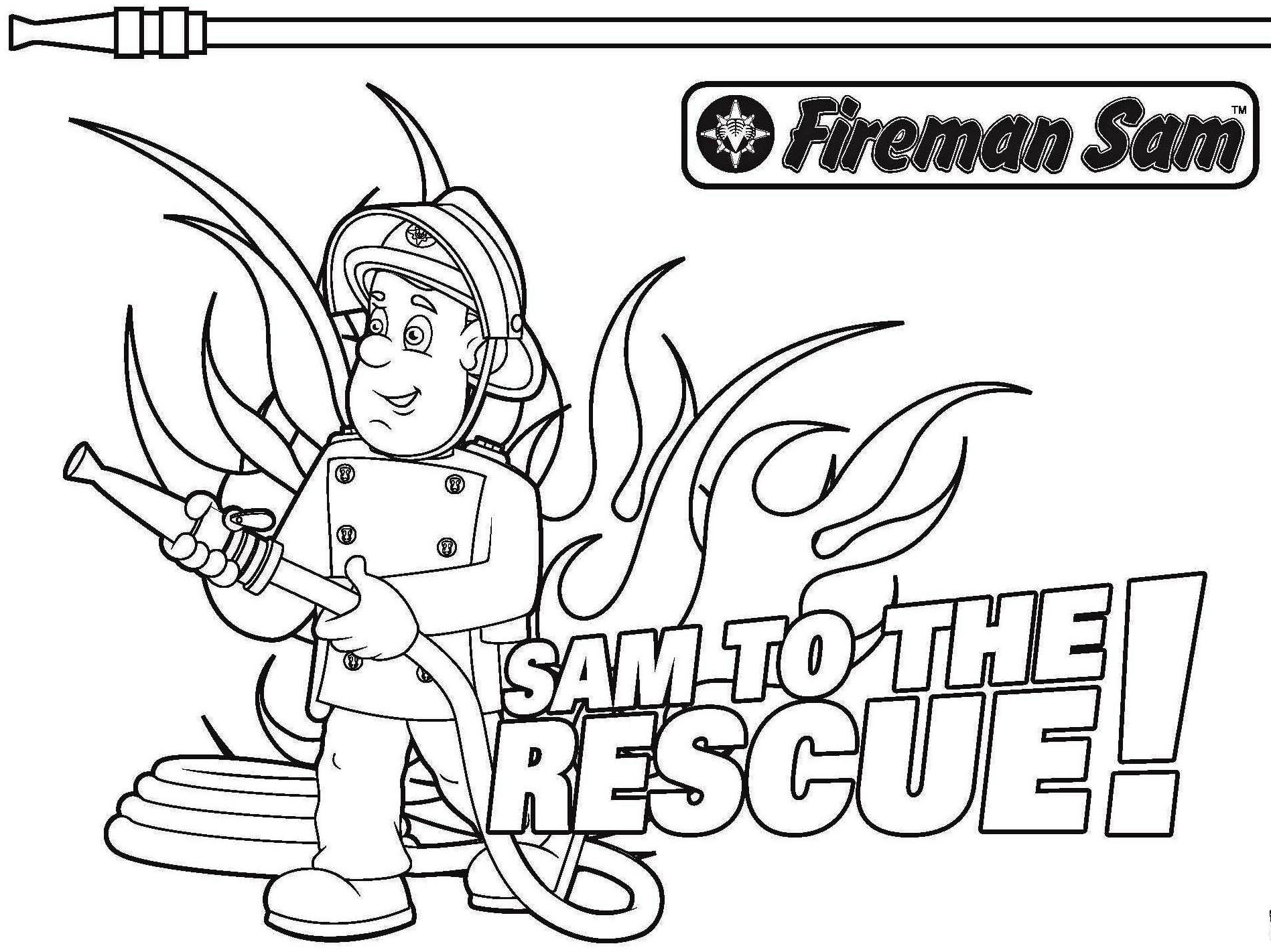 Fireman Coloring Pages Rescue Victims