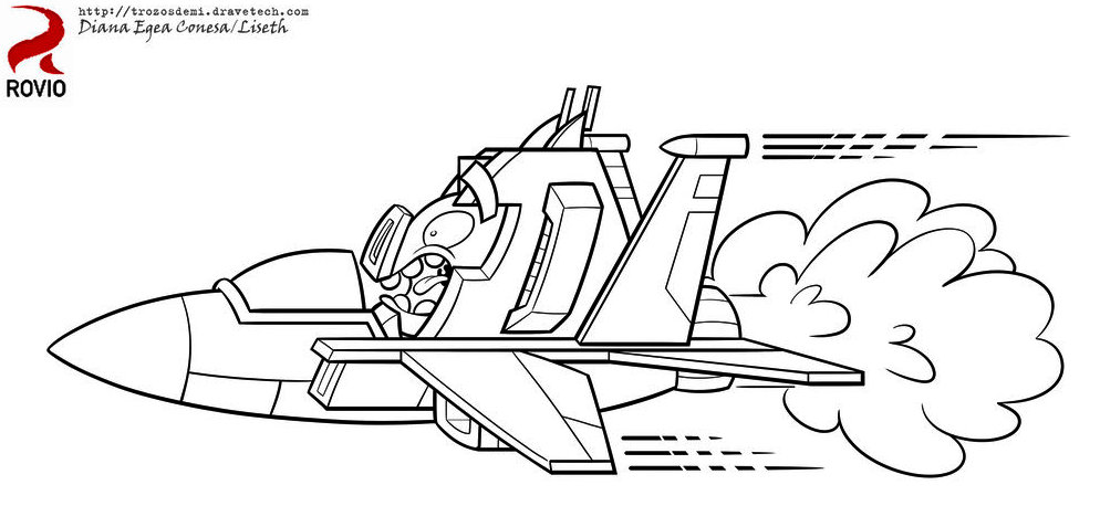 Angry Bird Transformer Coloring Pages