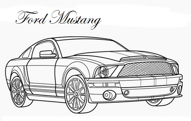 nfs ford mustang coloring pages - photo#29