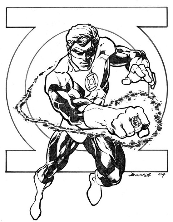 Green Lantern Drawing