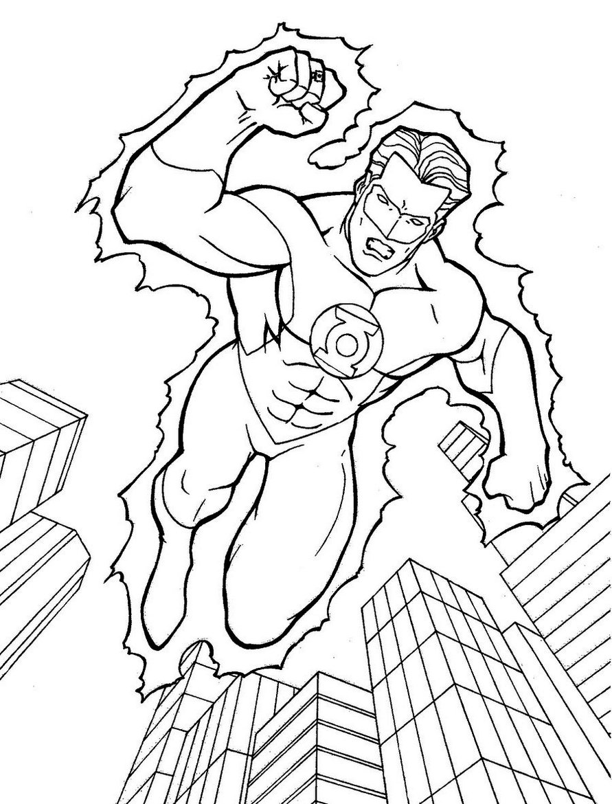 Green Lantern Superhero Coloring Book