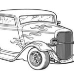 Hot Rod Car Coloring Page