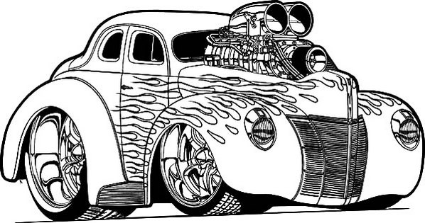 hot rod race car coloring page to enhance the development of motor skills coloring pages - Hot Rod Coloring Pages