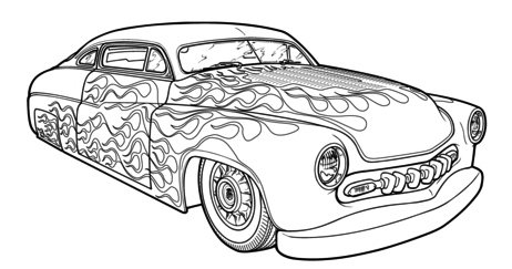 Hot Rod Race Car Coloring Pages Printable