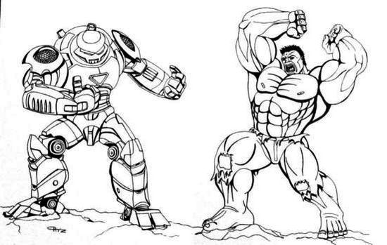 Hulkbuster Armor Coloring Pages
