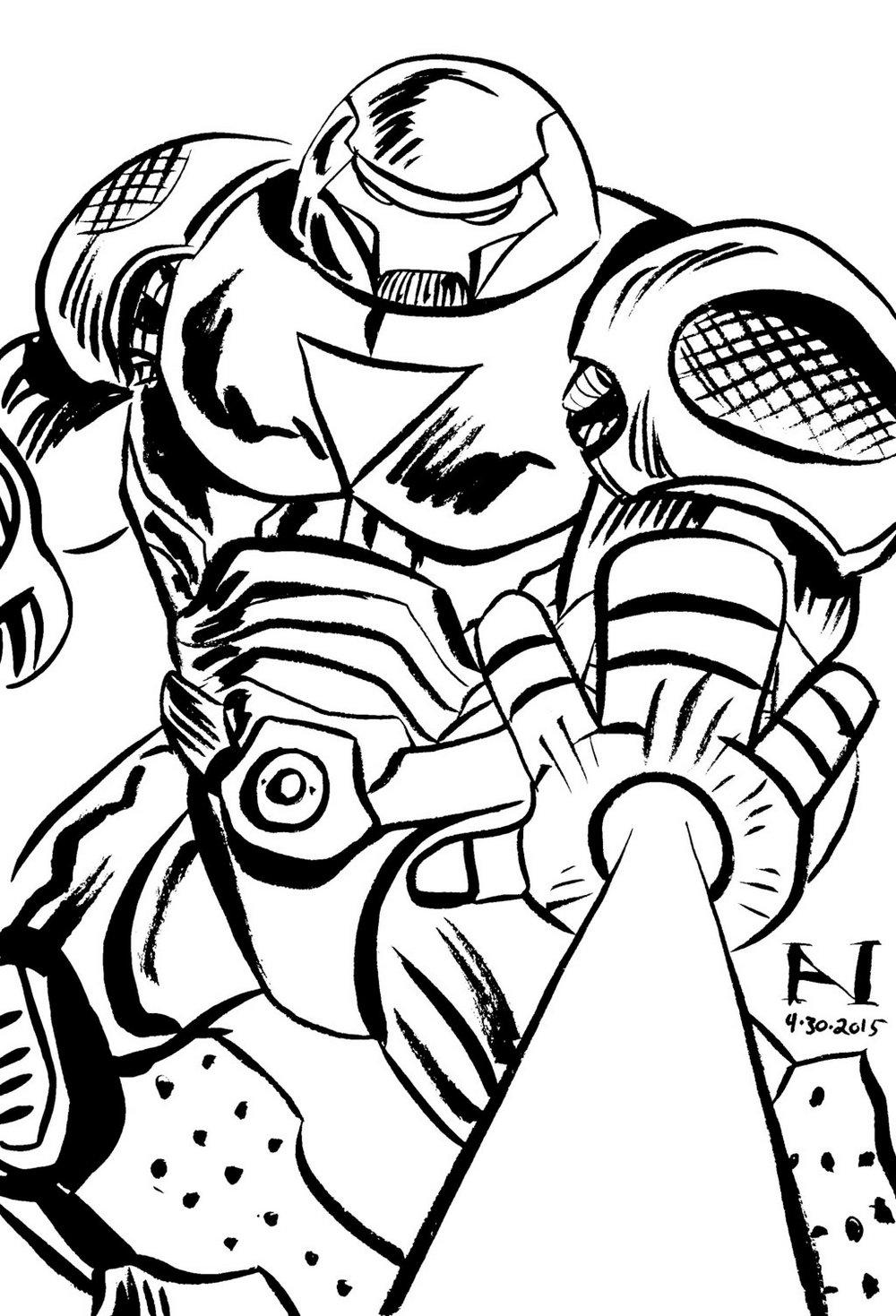Hulkbuster Iron Man Coloring Sheet