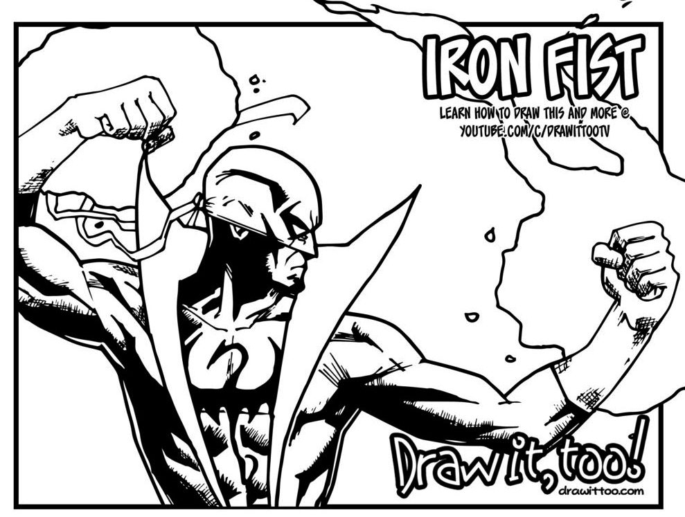 Iron Fist Coloring Books