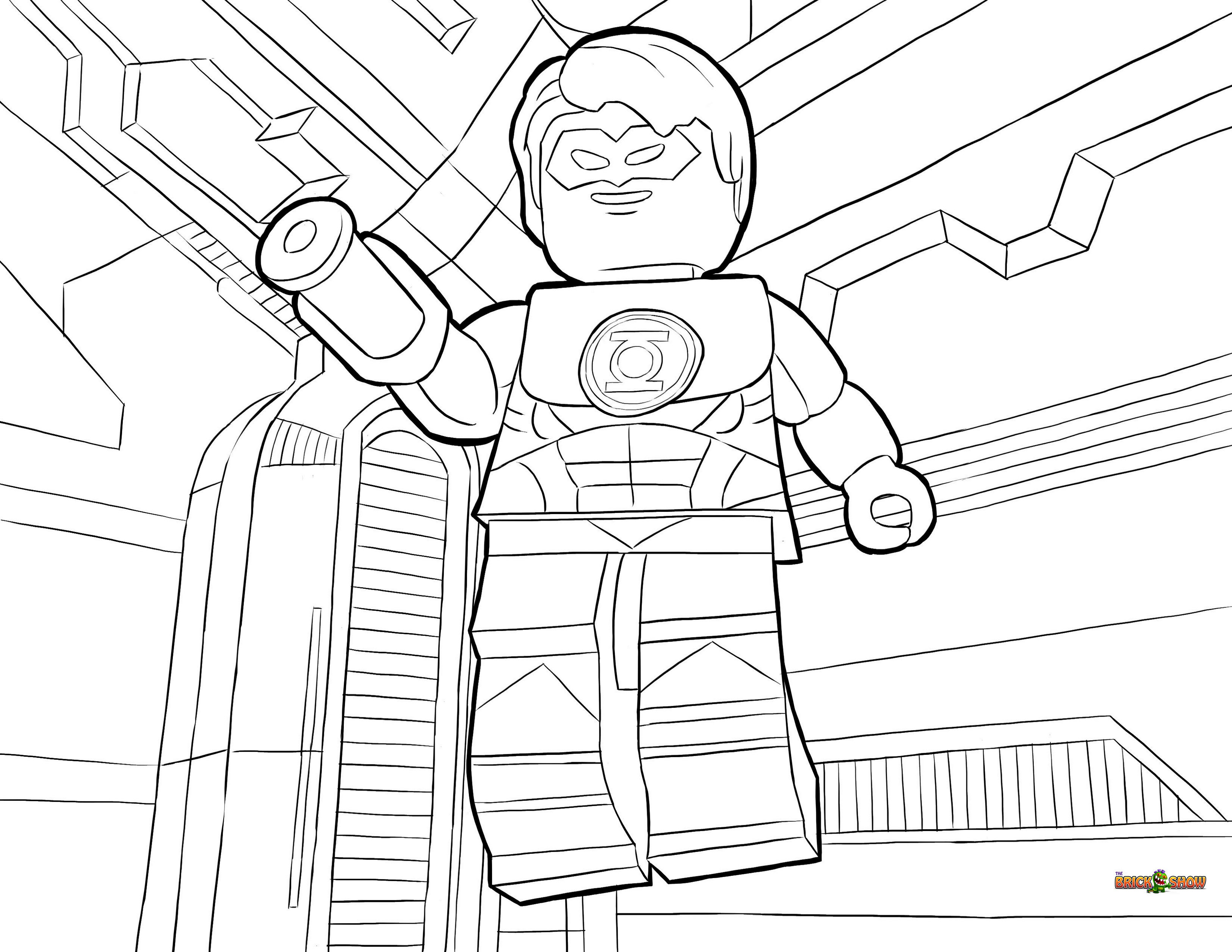 Lego Green Lantern Coloring Book