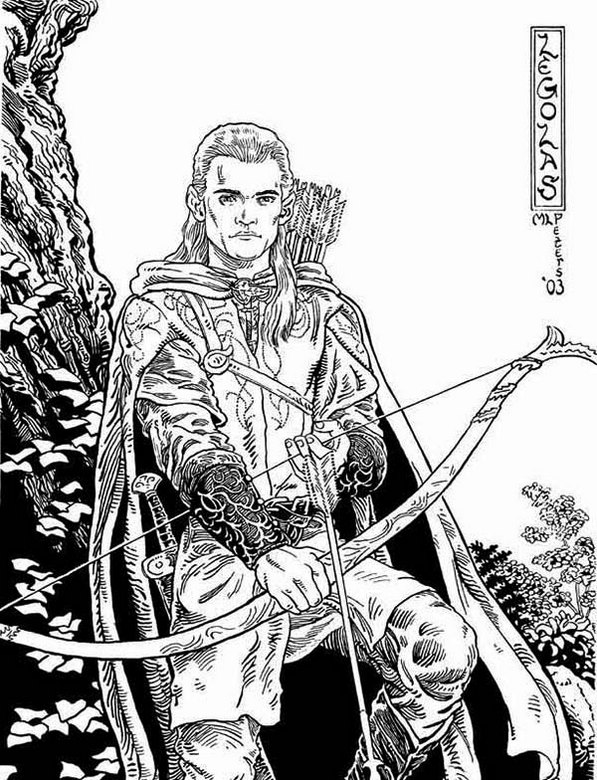 Legolas The Hobbit Coloring Pictures