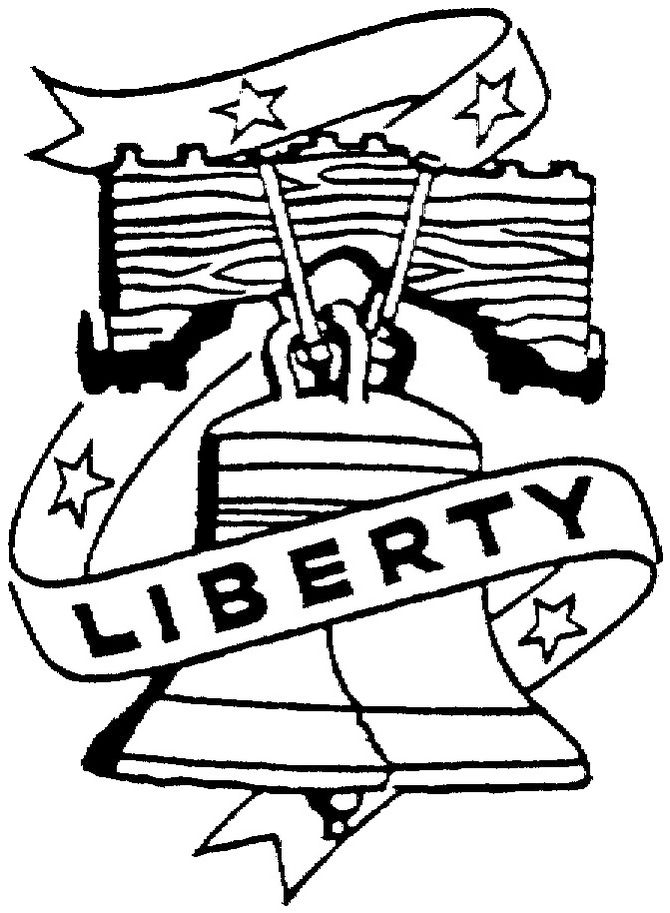 Liberty Bell Coloring Page To Print