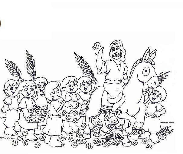 Palm Sunday Coloring Page For Fun Activity School