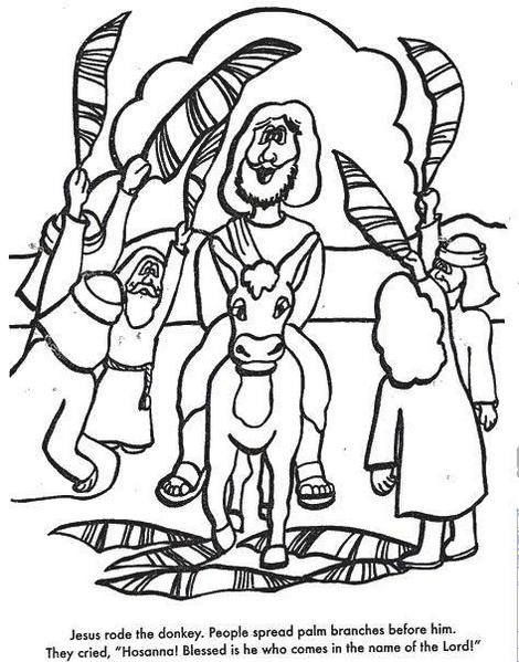 Palm Sunday Coloring Page To Print