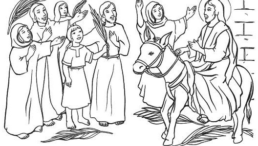 Palm Sunday Coloring Sheet