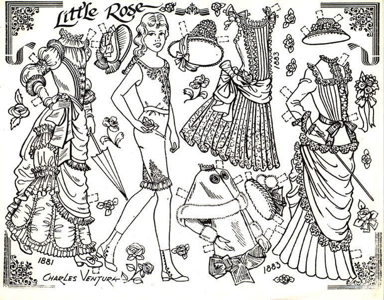 Paper Doll Coloring Page To Print