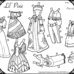Paper Doll Lil Pixie Gowns Coloring Page