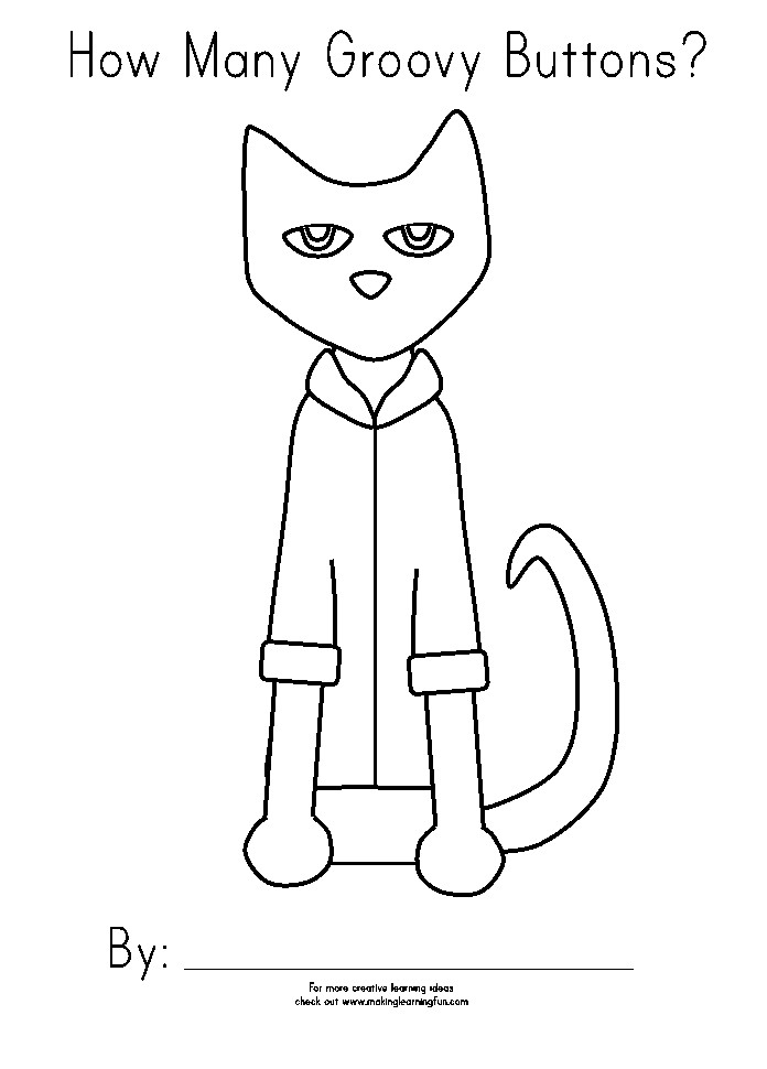 Pete Cat Coloring Page A Fun Activity