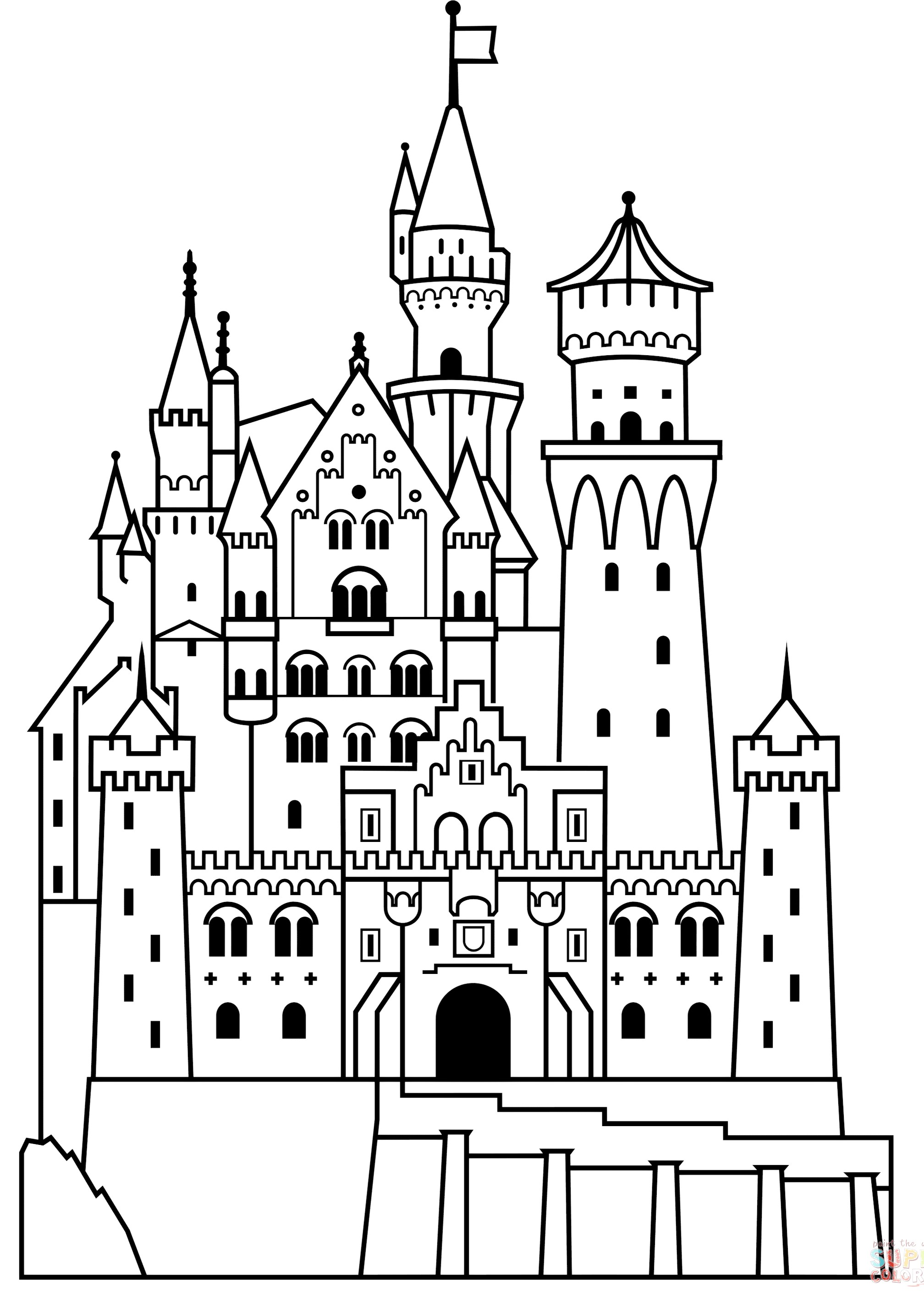 Disney Castle Coloring Page Bring The Magical World Of To Your Kids