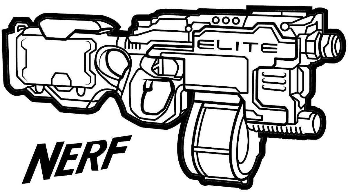 Gun Coloring Pages Nerf Gun Coloring Pages  Coloring Pages