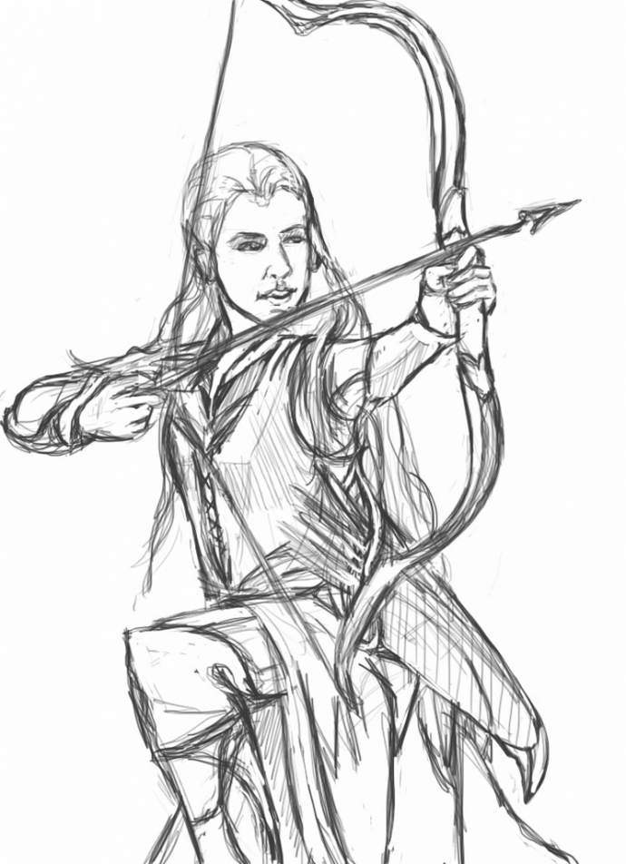 Printable The Hobbit Coloring Pages Legolas